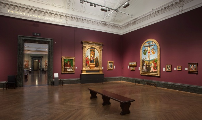 LED lights illuminate paintings in London's National Gallery